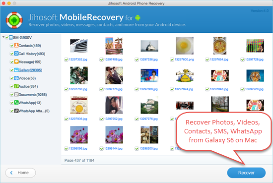 How to Recover Lost Date from Samsung Galaxy S6/S6 Edge on Mac - Image 2
