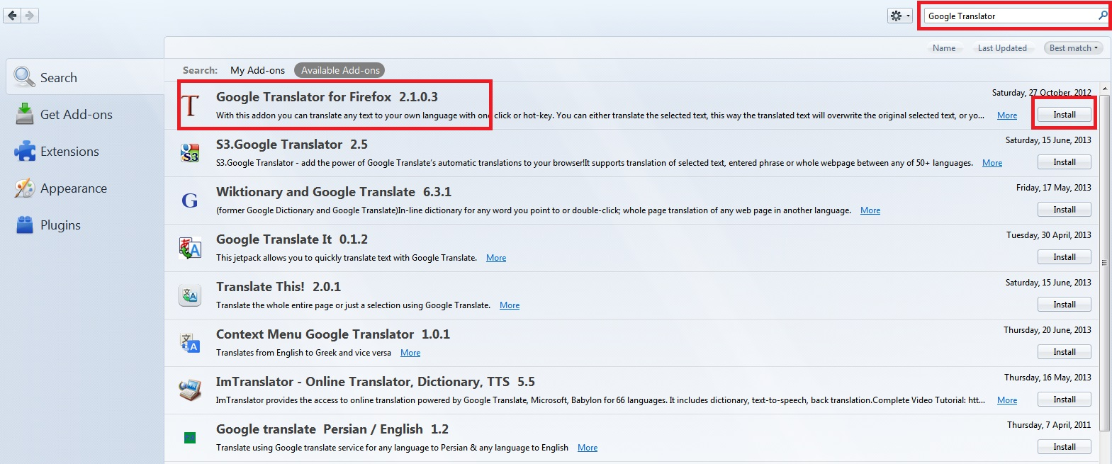 How To Install Add-ons on Mozilla Firefox Browser - Image 3