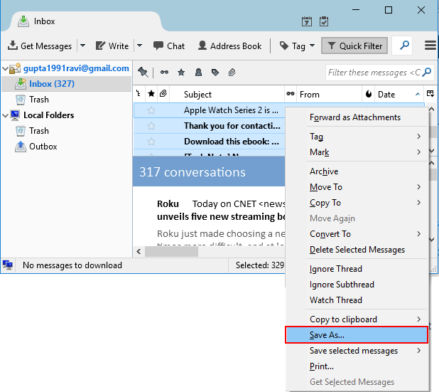 Convert Thunderbird Mail To EML - Image 1