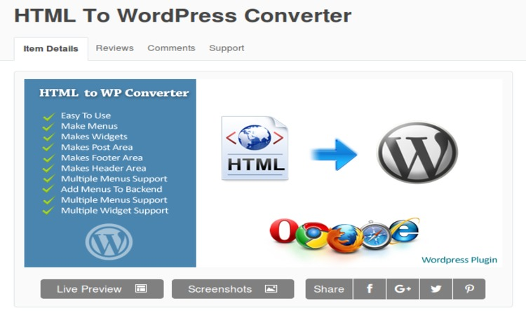 Top 3 Tools For HTML to WordPress Theme Conversion - Image 2