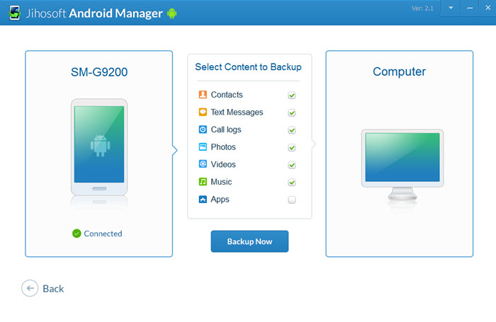 Jihosoft Android Manager - Backup and Transfer Files from Android to PC or Mac - Image 4