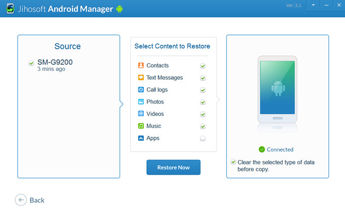 Jihosoft Android Manager - Backup and Transfer Files from Android to PC or Mac - Image 5