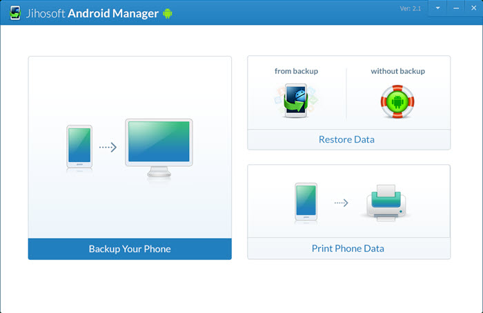 Jihosoft Android Manager - Backup and Transfer Files from Android to PC or Mac - Image 3