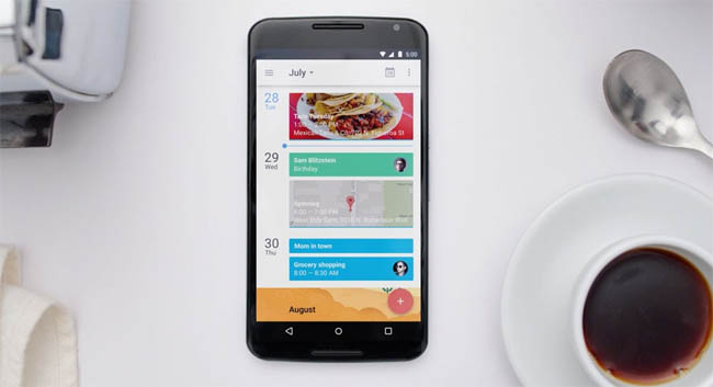 Contextual Autocomplete - Google Releases Redesigned Calendar App For Android - Image 1