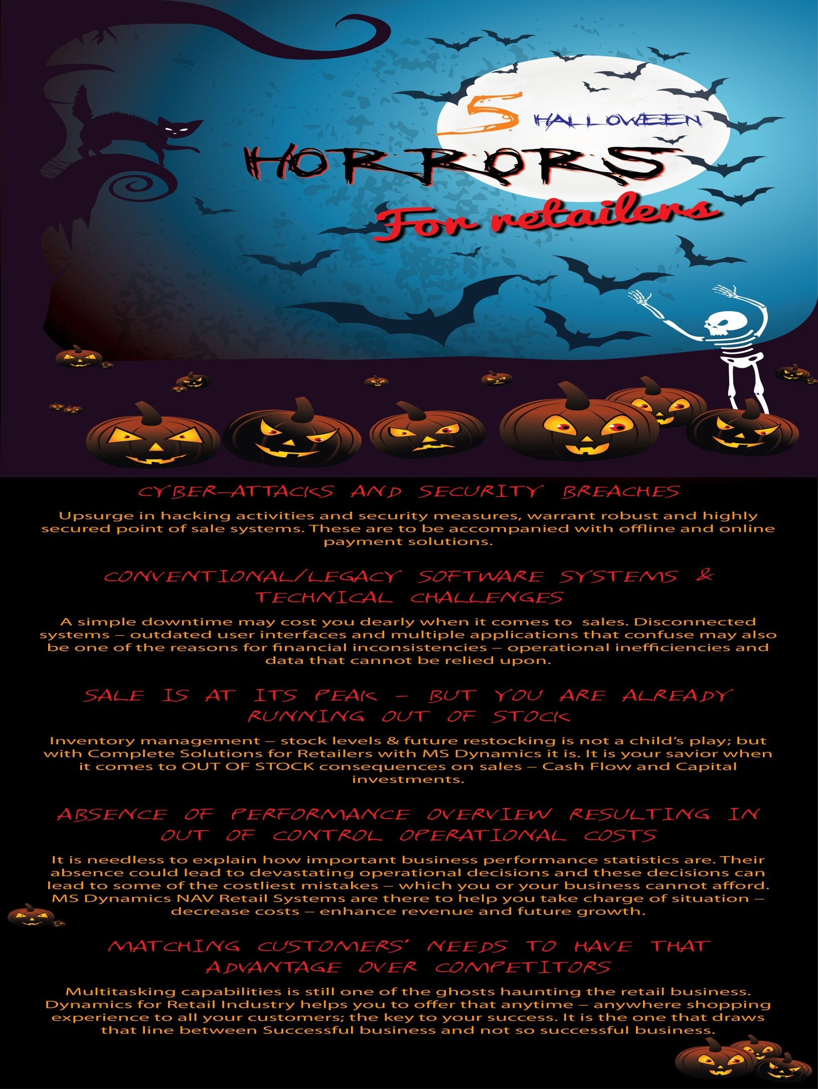 5 Halloween Horrors that haunt retailers; Candies of Complete Solutions with MS Dynamics - Image 1