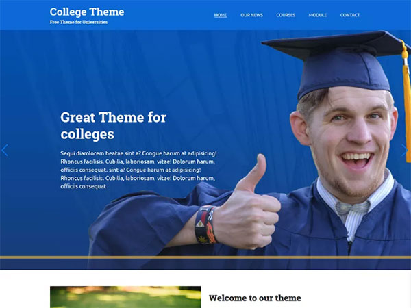 10 Awesome education Free WordPress Website Themes - Image 2