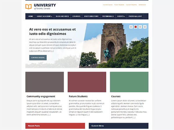 10 Awesome education Free WordPress Website Themes - Image 3