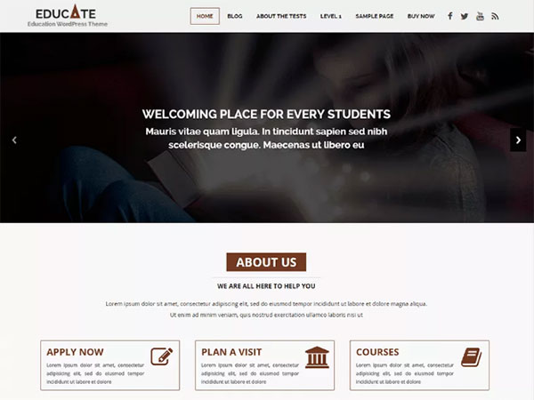 10 Awesome education Free WordPress Website Themes - Image 4