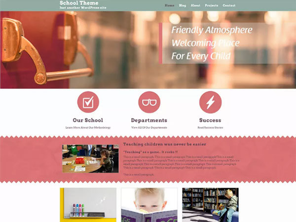 10 Awesome education Free WordPress Website Themes - Image 5