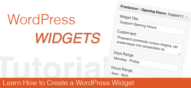 How to Develop Custom Widgets for your Wordpress Website? - Image 1