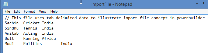External Datawindow - Import File data to Datawindow - Image 1