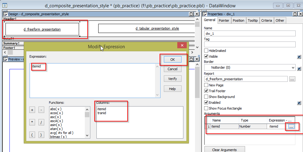 Pass Multiple Retrieval Arguments to Multiple dataobjects in CompositeDataWindow in PowerBuilder - Image 4