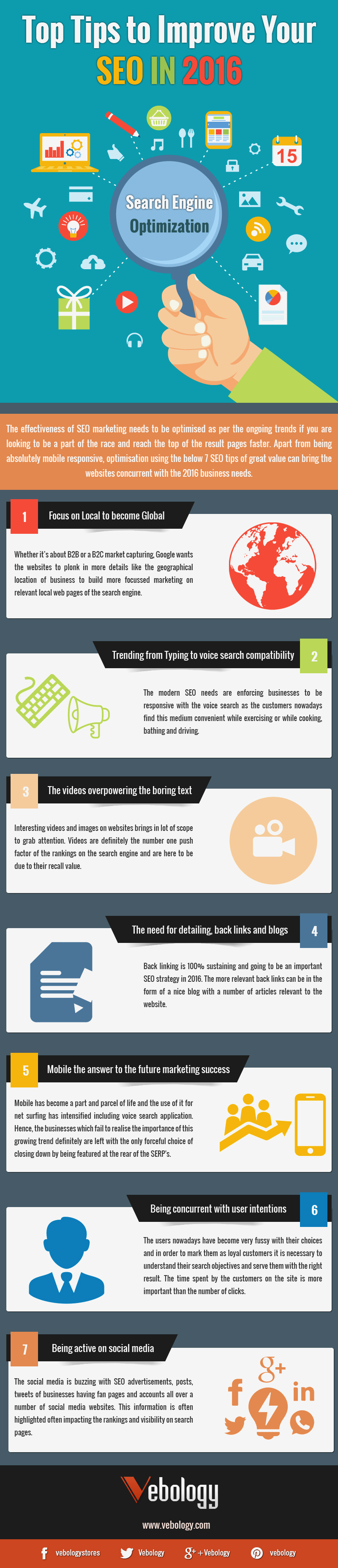 Top Tips To Improve Your SEO Infographic