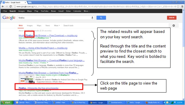 Basic Tutorial - Web Browsers and Search Engine- Google Search & Usage - Image 7