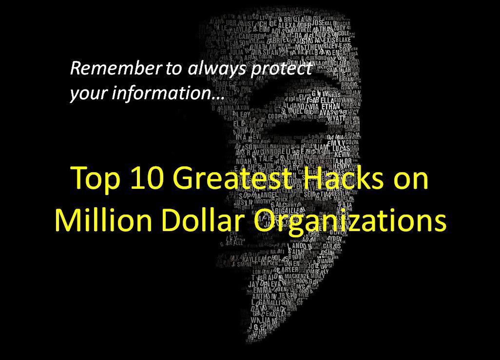 Top 10 Greatest Hacks on Million Dollar Organizations - Image 1