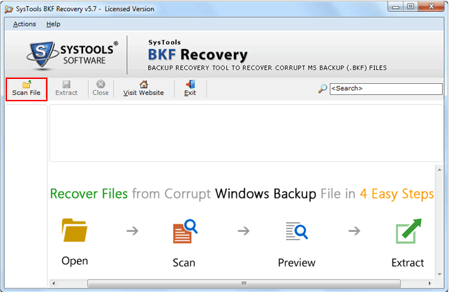 BKF Recovery Software Recovering Corrupt Windows Backup Files! - Image 1
