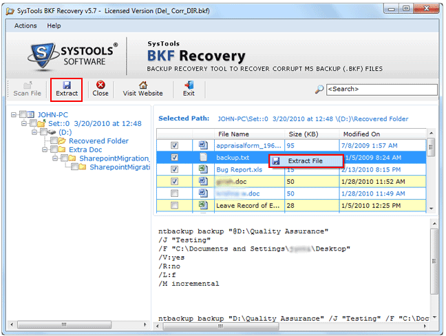 BKF Recovery Software Recovering Corrupt Windows Backup Files! - Image 3