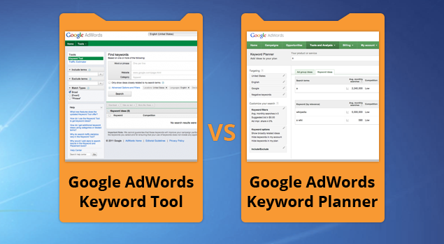 Difference between Keyword planner and Old Keyword Tool - Image 1