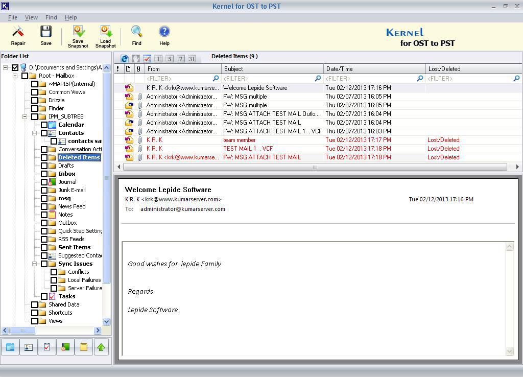 Review of Kernel for OST to PST Converter - Image 2