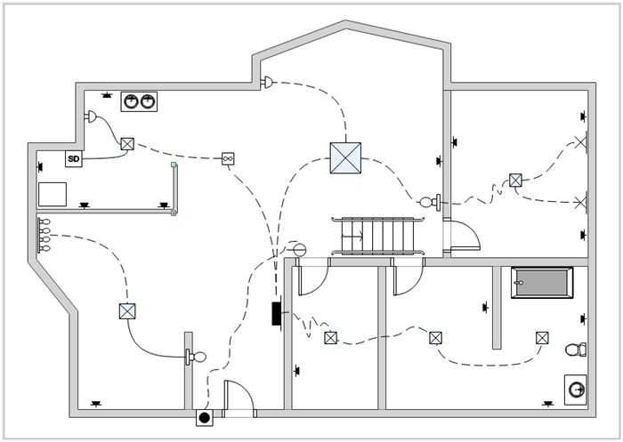 Beginner's Guide To Home Wiring Diagram Image 1: Contact Wiring Diagram Drawing At Sewuka.co