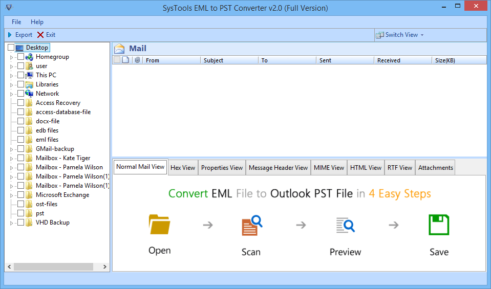 How to Open EML File Emails in Microsoft Outlook 2007, 2010, 2013, 2016 - Image 1