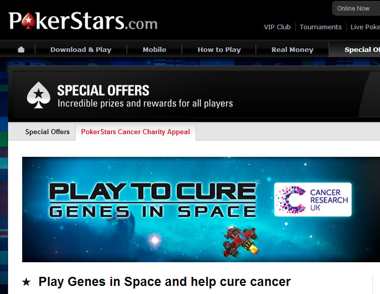 PokerStars Helps Cancer Research With Game App - Image 1