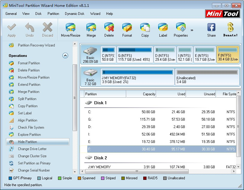 MiniTool Partition Wizard Home Edition 8.1.1 Review - Image 1