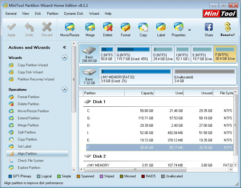 MiniTool Partition Wizard Home Edition 8.1.1 Review - Image 2