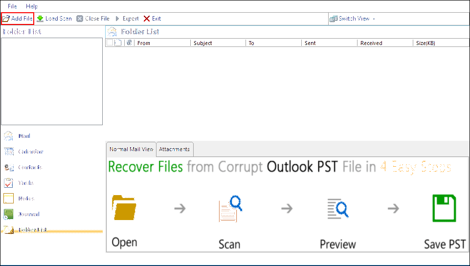 Outlook PST Repair Tool: Quickly Fix File Error in Outlook - Image 1