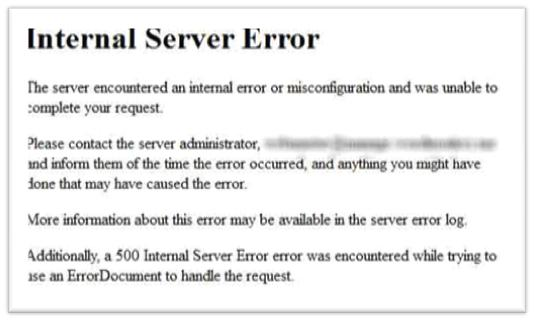 Resolve the Internet Server Error in Wordpress - Image 1