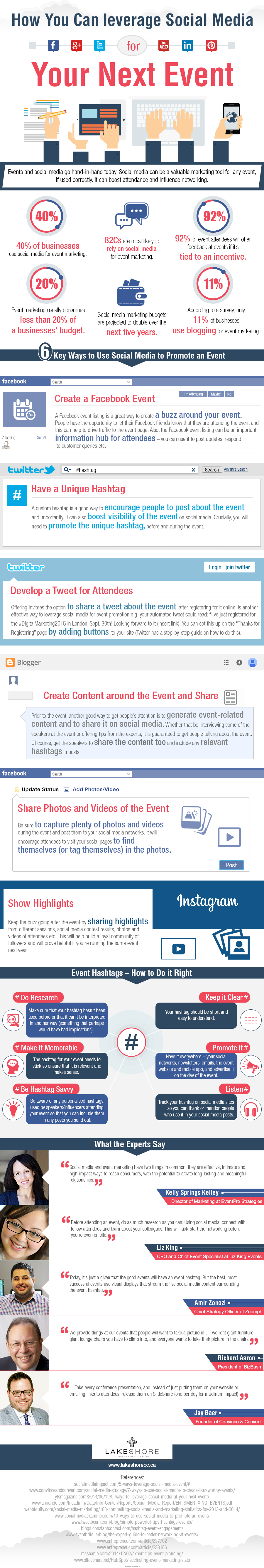 How to Leverage Social Media for Your Next Event - Infographic - Image 1