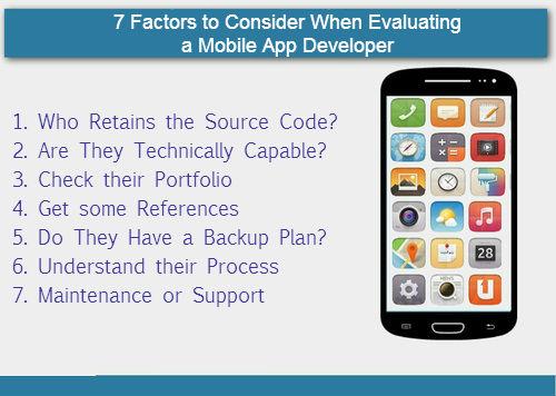 7 Factors to Consider When Evaluating a Mobile App Developer - Image 1