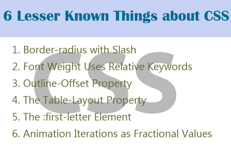 6 Lesser Known Things about CSS - Image 1