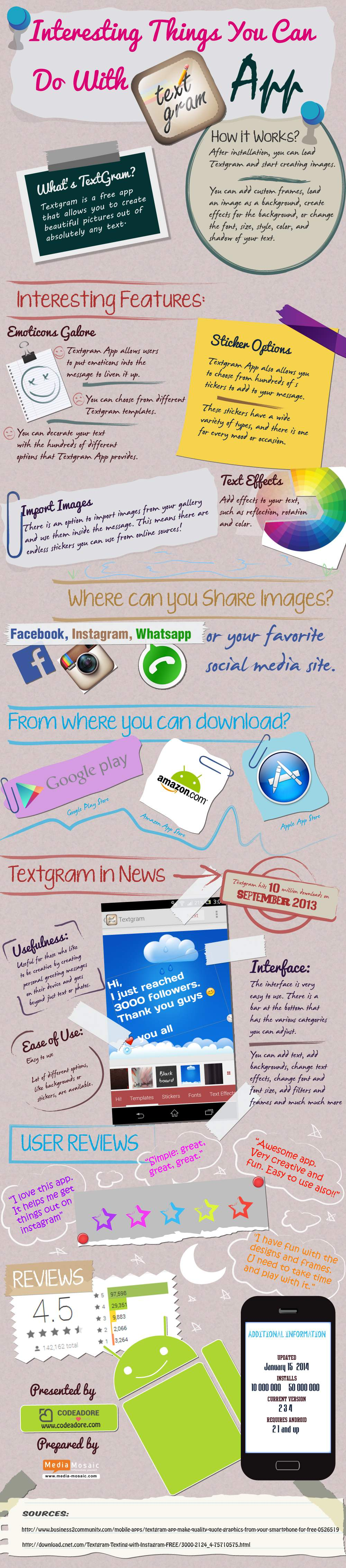 Textgram Application For Beautiful Text Design - Image 1