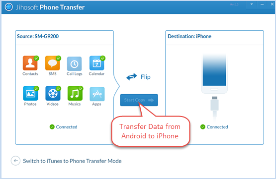 How to Transfer Data from Android to iPhone 6/6 Plus/6S/6S Plus - Image 2