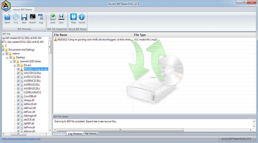 How To Recover Corrupt BKF Files - Image 5