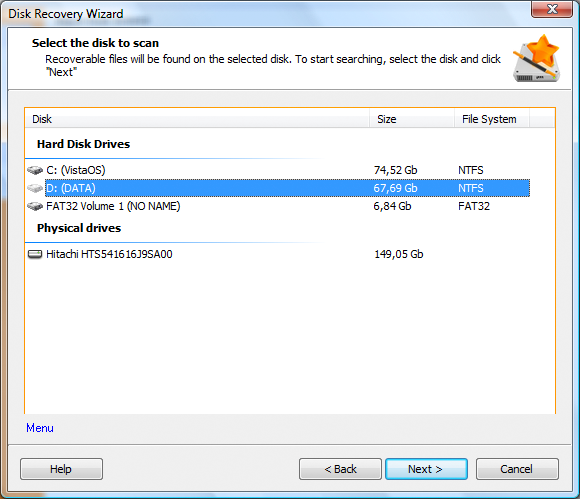 Disk Recovery Wizard: Wizard-Based Recovery - Image 1