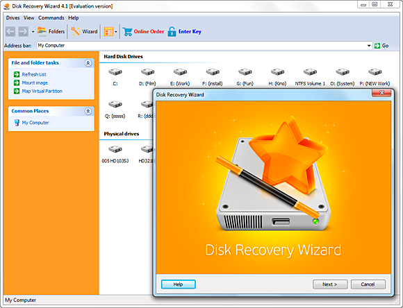 Disk Recovery Wizard: Wizard-Based Recovery - Image 2