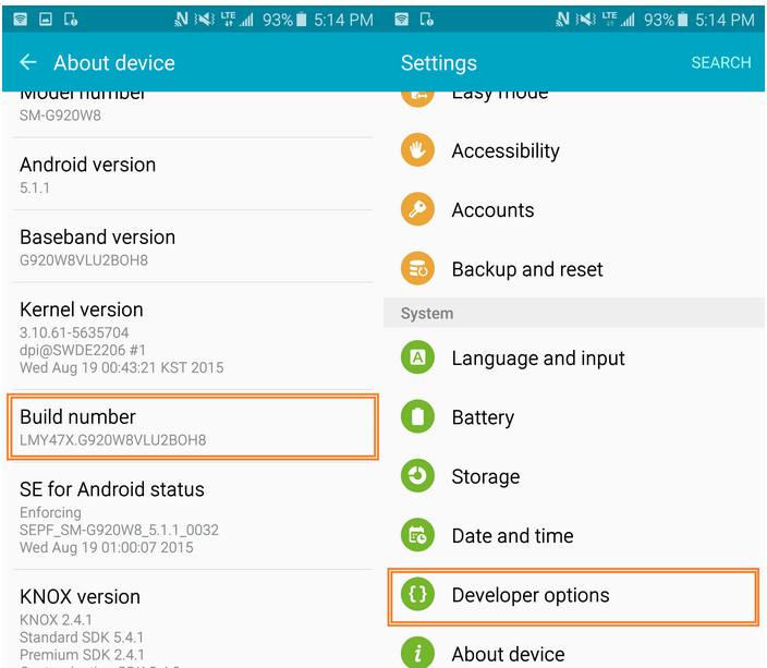 How to Enable USB Debugging Mode on Samsung Galaxy Note 5/4/3 - Image 2