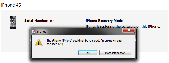 How To Fix iTunes Error 29 ? - Image 1
