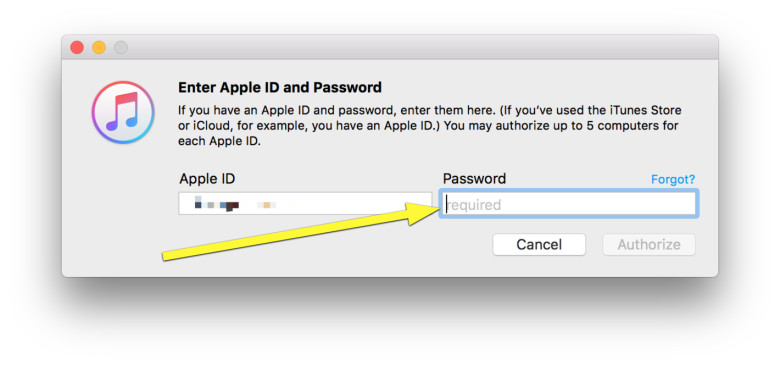 Get iTunes to stop asking you to authorize your Mac - Image 3