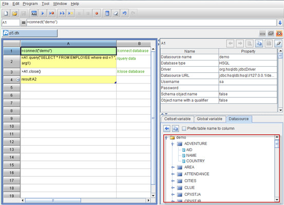Database Operations with esProc - Image 1