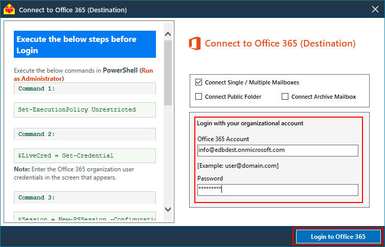 Steps to Migrate mailboxes from Office 365 to Office 365 tenant - Image 4