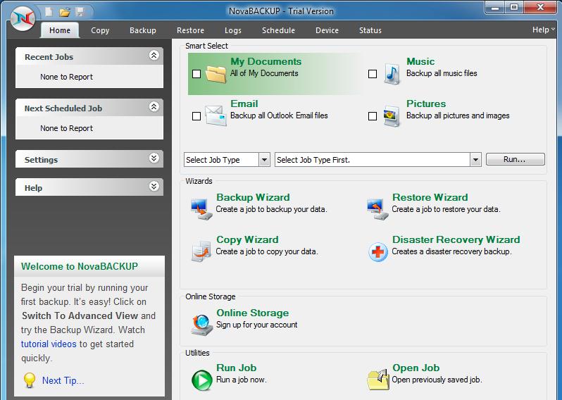 Nova Backup Professional Software - Image 1