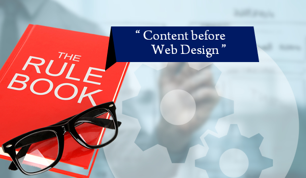 The Development Rule Book Says Content before Web Design - Image 1