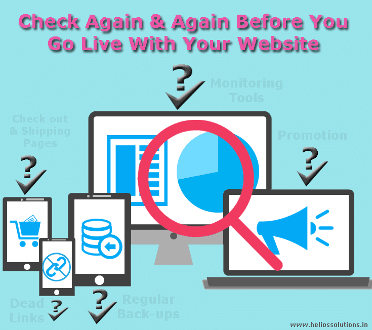 Check again & again before you go live with your website - Image 1