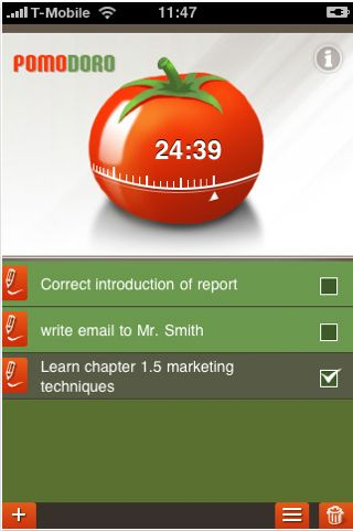 Pomodoro Time Management app for IOS - Image 1