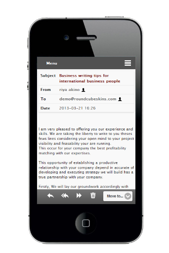 New Jquery Roundcube Mobile Skin for Version 1.0.1 , 0.9.X , 0.8.X !!! - Image 1