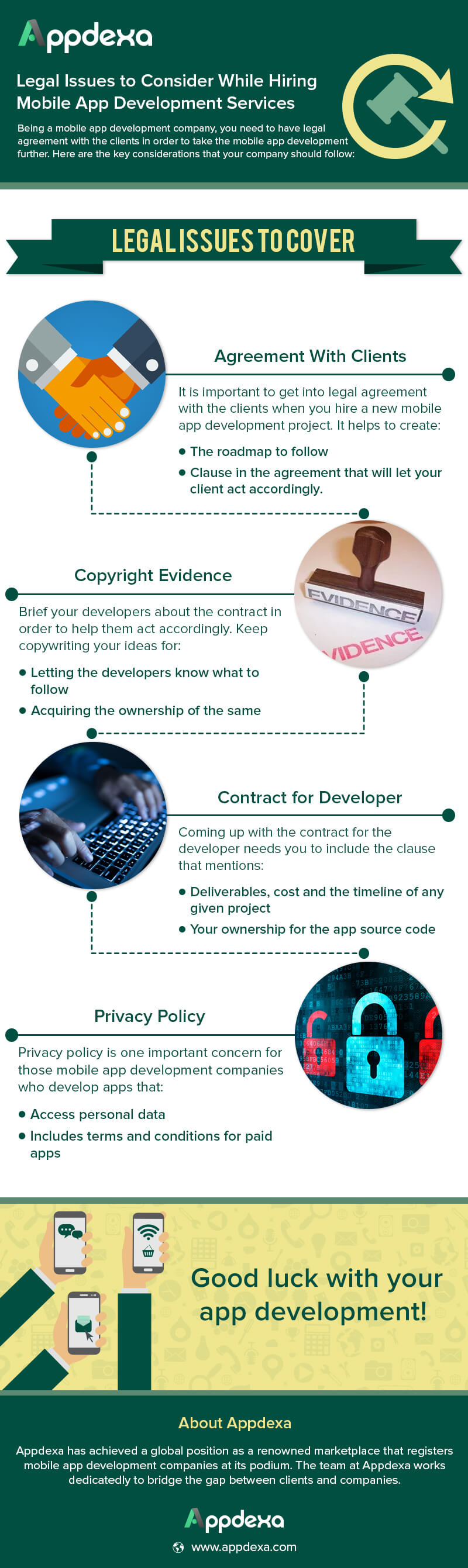 Info-graphics : Legal Issues to Consider While Hiring Mobile App Development Services - Image 1
