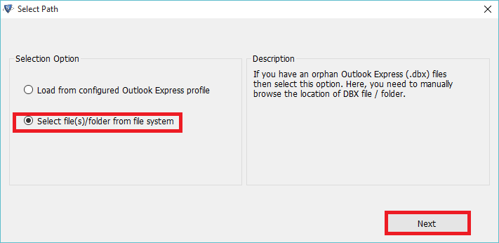 DBX to PST Converter to Access Outlook Express Files into Outlook - Image 2